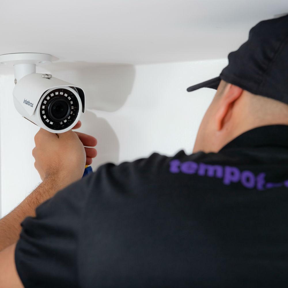 Instalação de câmeras de segurança com profissionais capacitados