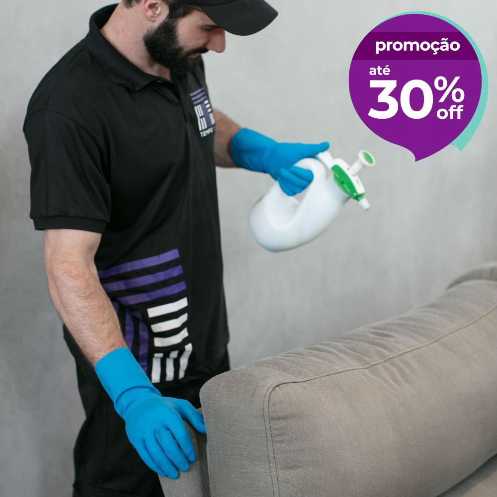 Empresa de higienização de sofá de 1 ou 2 lugares TempoTem