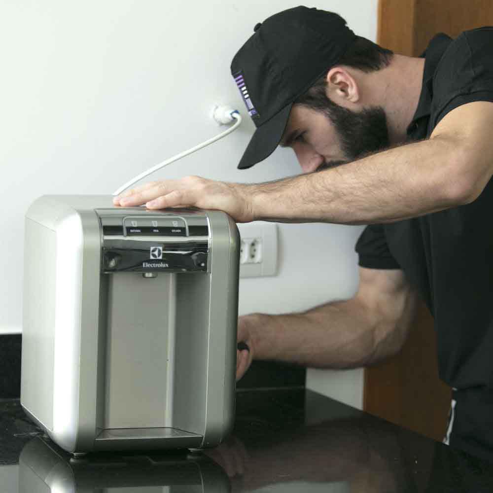Serviço com garantia, agilidade e conforto na hora da instalação de purificador de água