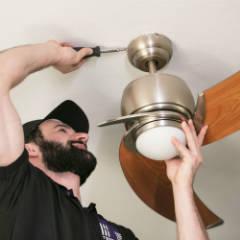 Serviço de instalação de ventiladores de teto ou parede com garantia