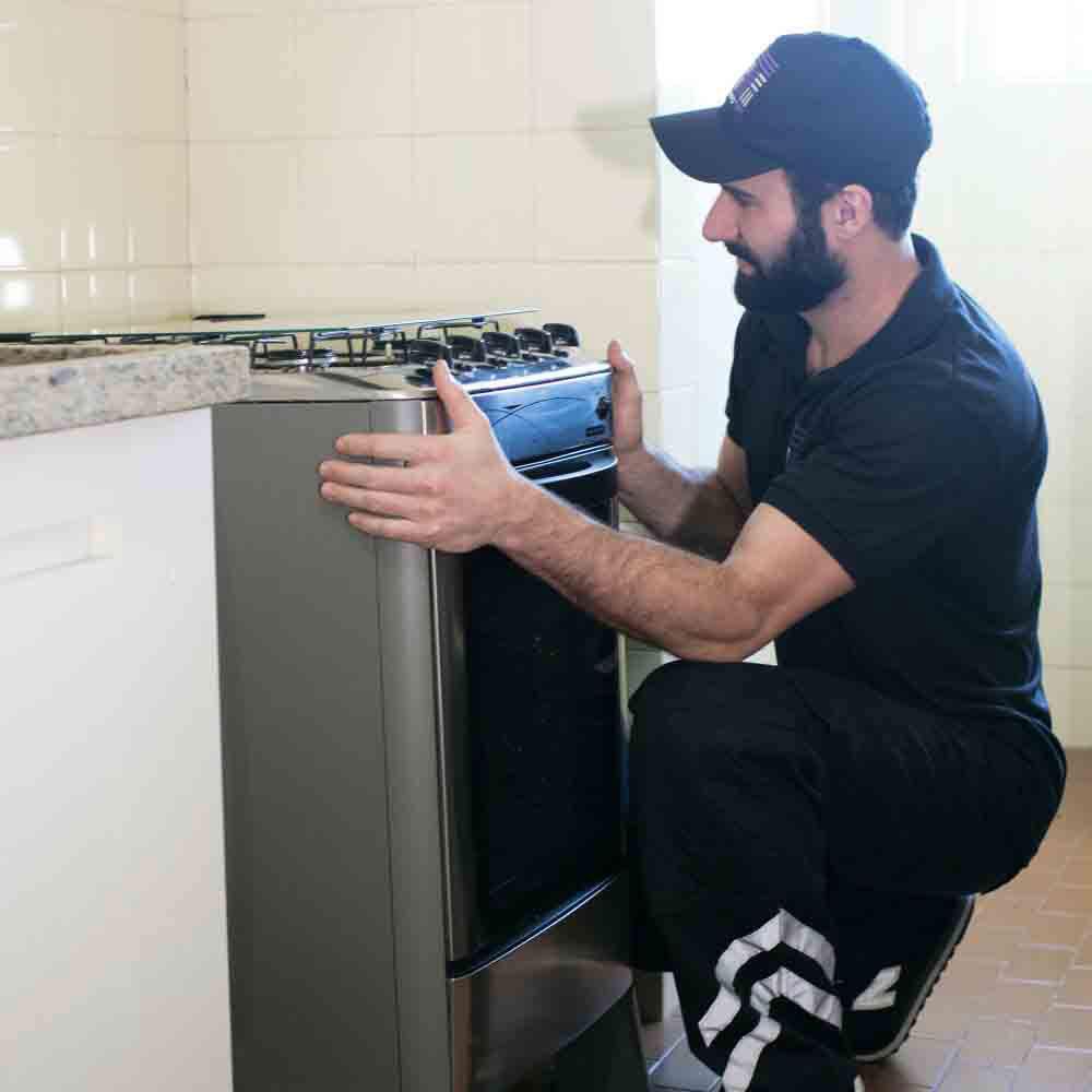 Instalação completa de fogão, cooktop e forno
