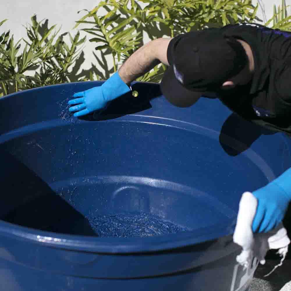 Higienização completa de caixa d'água
