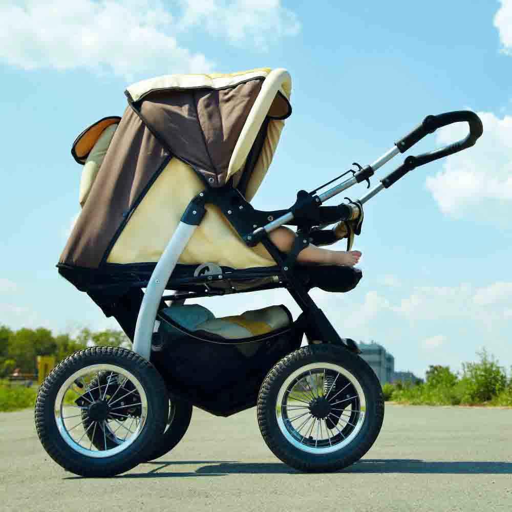 Lavagem de carrinho de bebê completa