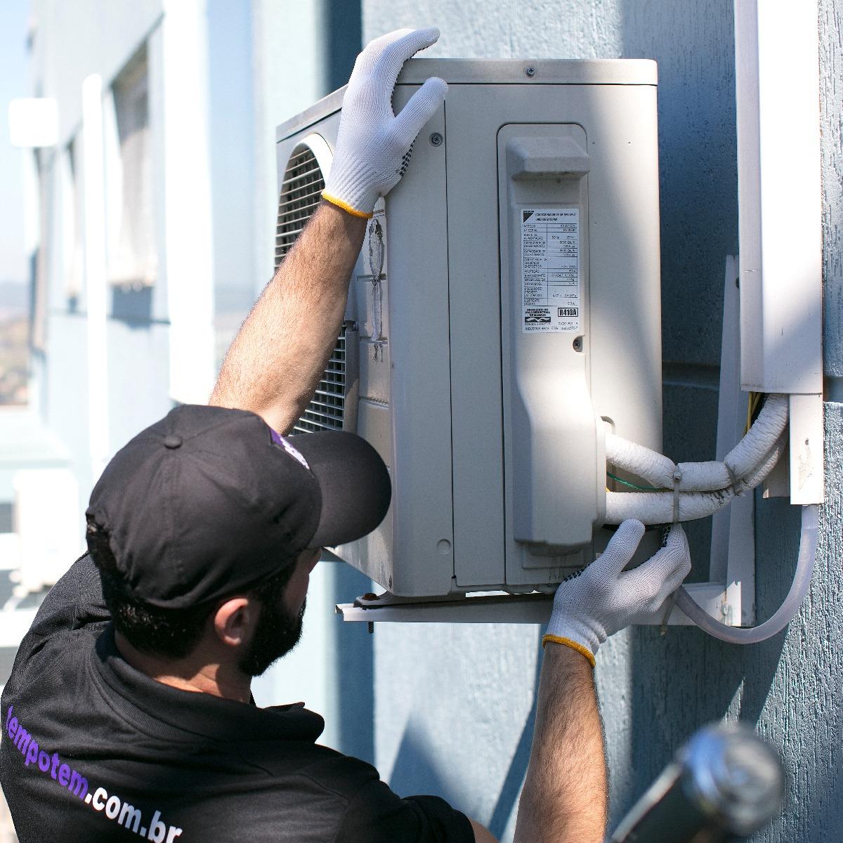 Instalação completa de ar-condicionado