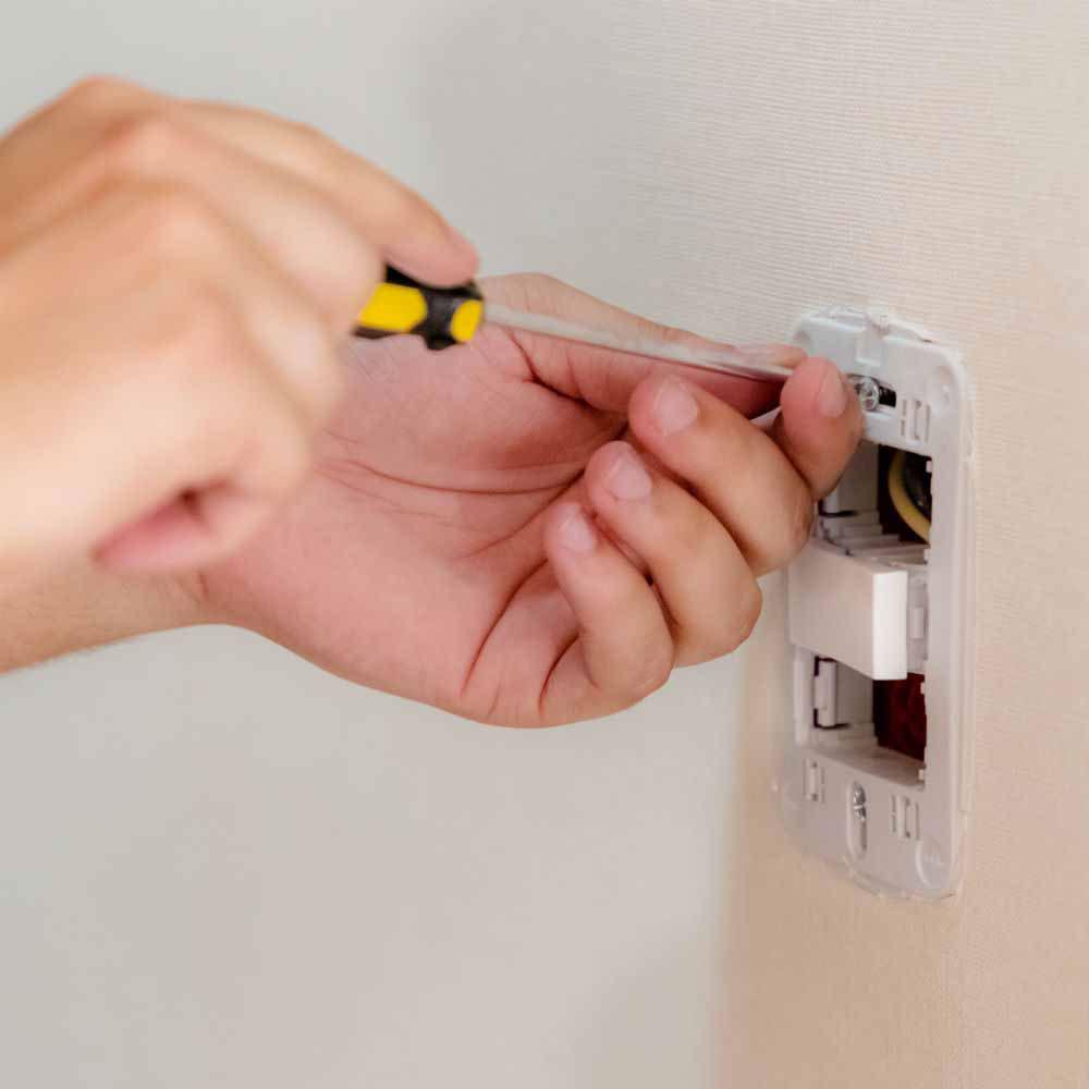 Melhor preço com garantia na instalação de interruptores
