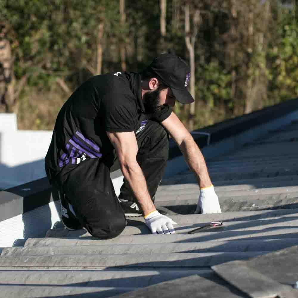Serviço de contenção de vazamento no telhado